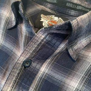 Genuine Harley Davidson Flannel Shirt - Mens Med